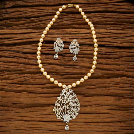 53672 CZ Mala Necklace with 2 tone plating