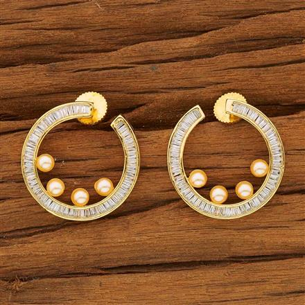 53673 CZ Classic Earring with gold plating