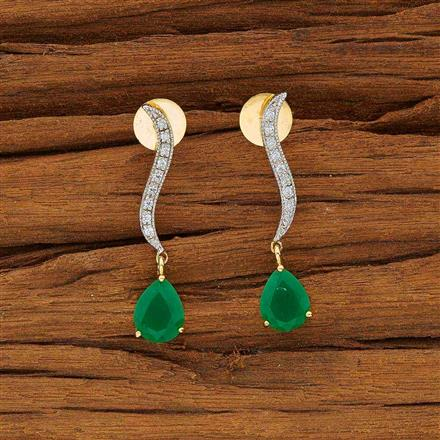 53713 CZ Delicate Earring with 2 tone plating