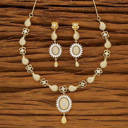 53721 CZ Classic Necklace with gold plating