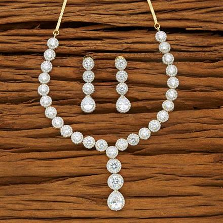 53722 CZ Classic Necklace with 2 tone plating