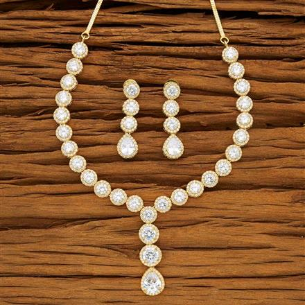 53724 CZ Classic Necklace with gold plating