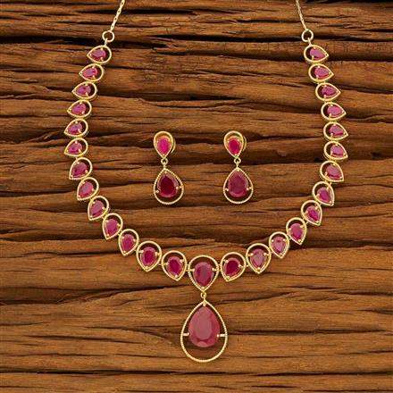53725 CZ Classic Necklace with gold plating