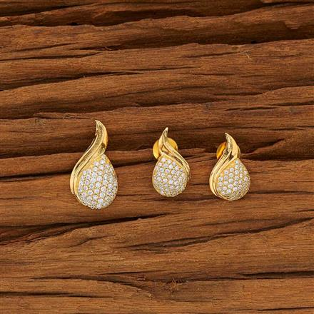 53752 CZ Delicate Pendant Set with gold plating