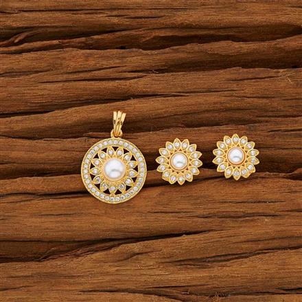 53756 CZ Delicate Pendant Set with gold plating