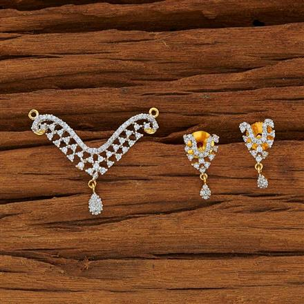 53768 CZ Classic Mangalsutra with 2 tone plating