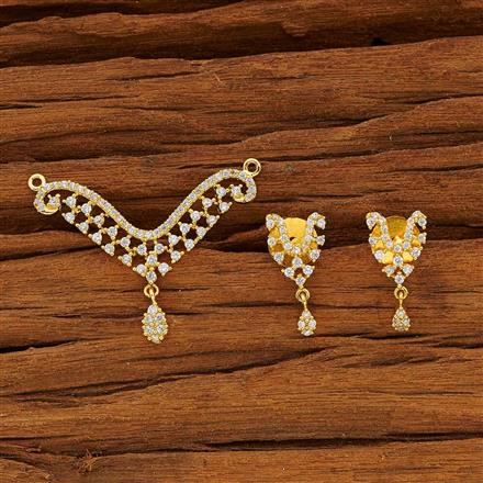 53769 CZ Classic Mangalsutra with gold plating