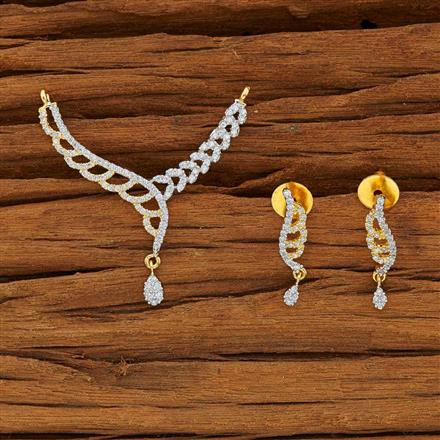 53770 CZ Classic Mangalsutra with 2 tone plating