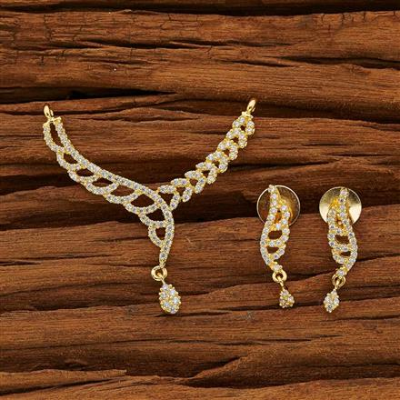 53771 CZ Classic Mangalsutra with gold plating