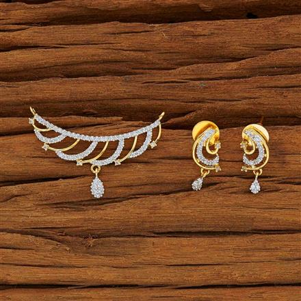 53772 CZ Classic Mangalsutra with 2 tone plating