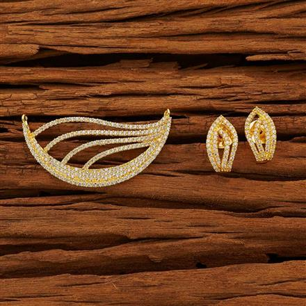 53775 CZ Classic Mangalsutra with gold plating