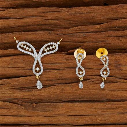 53776 CZ Classic Mangalsutra with 2 tone plating