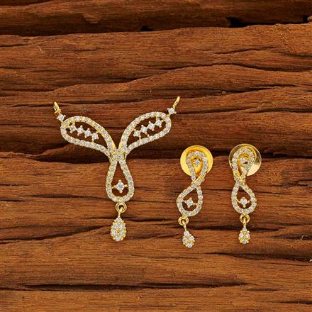 53777 CZ Classic Mangalsutra with gold plating