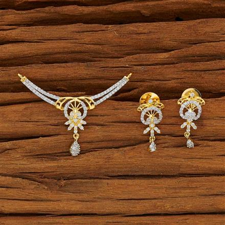 53778 CZ Classic Mangalsutra with 2 tone plating