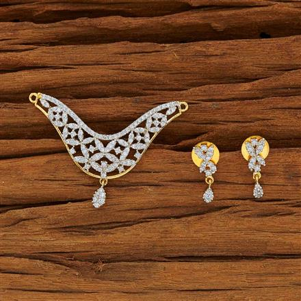 53779 CZ Classic Mangalsutra with 2 tone plating