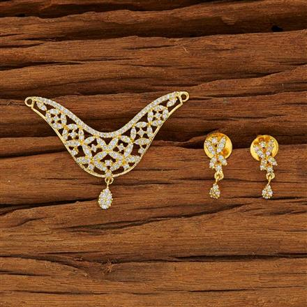 53780 CZ Classic Mangalsutra with gold plating