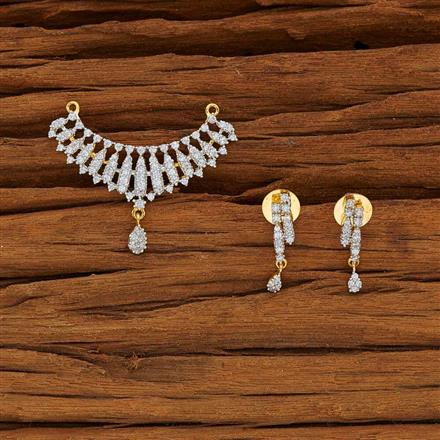 53781 CZ Classic Mangalsutra with 2 tone plating