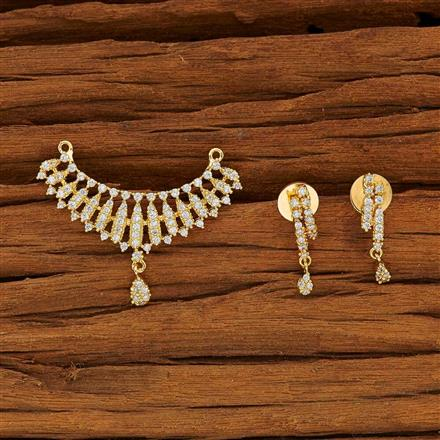 53782 CZ Classic Mangalsutra with gold plating
