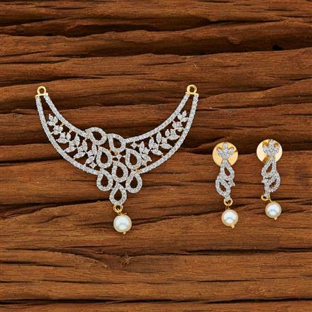 53783 CZ Classic Mangalsutra with 2 tone plating