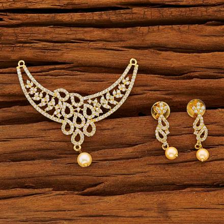 53784 CZ Classic Mangalsutra with gold plating