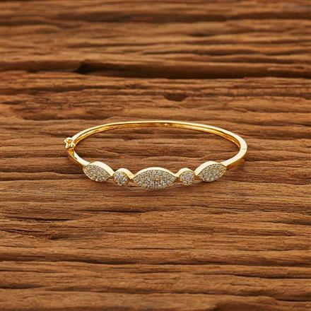53792 CZ Delicate Kada with gold plating