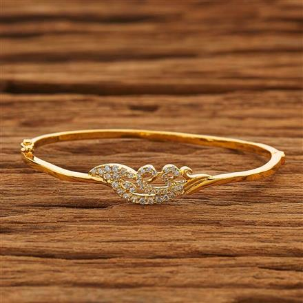 53834 CZ Delicate Kada with gold plating