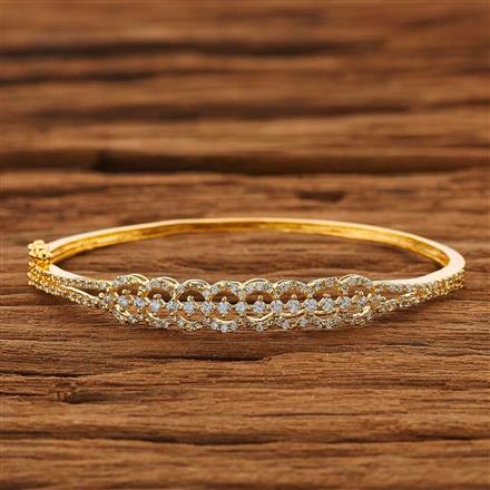 53837 CZ Delicate Kada with gold plating