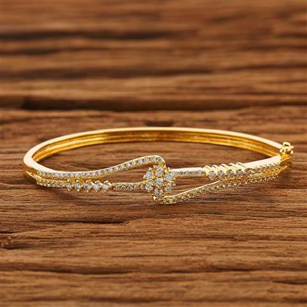 53843 CZ Delicate Kada with gold plating