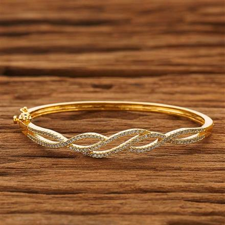 53847 CZ Delicate Kada with gold plating