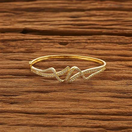 53850 CZ Delicate Kada with gold plating