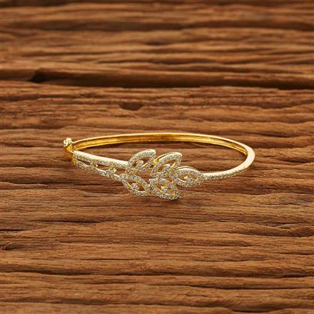53852 CZ Delicate Kada with gold plating