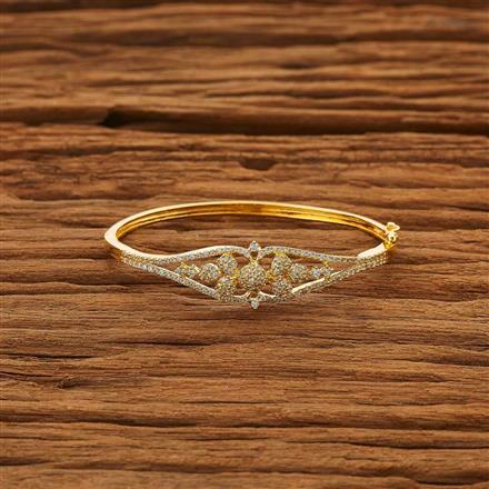 53855 CZ Delicate Kada with gold plating