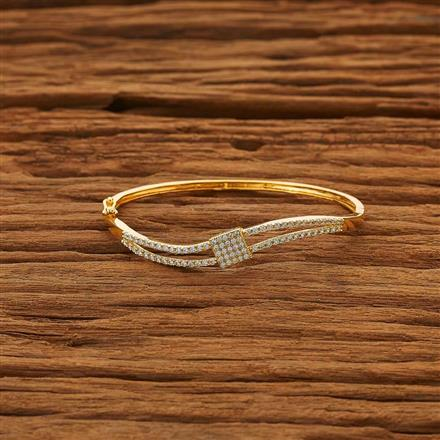 53858 CZ Delicate Kada with gold plating