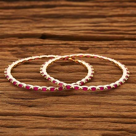 53863 CZ 2 Pc Bangle with gold plating
