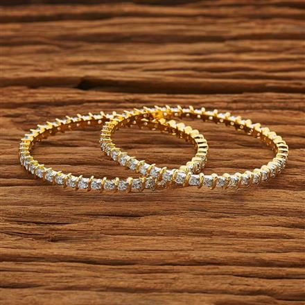 53868 CZ Classic Bangles with 2 tone plating