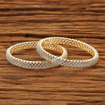 53869 CZ Classic Bangles with 2 tone plating
