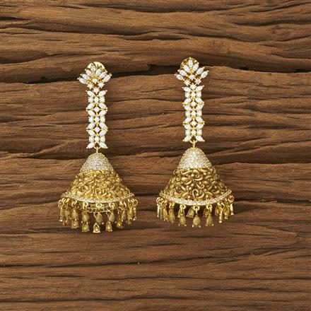 53904 CZ Classic Earring with gold plating