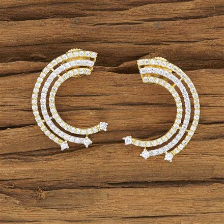 53905 CZ Chand Earring with 2 tone plating