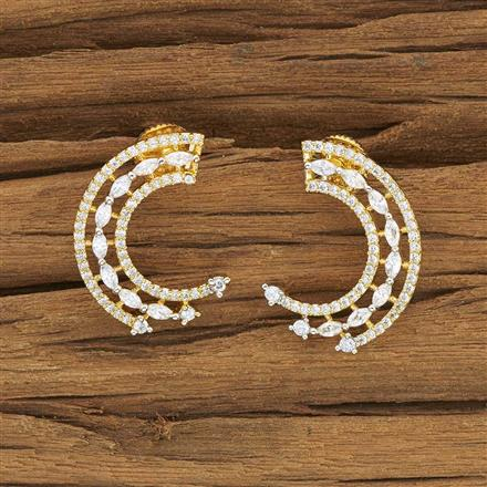 53907 CZ Chand Earring with 2 tone plating