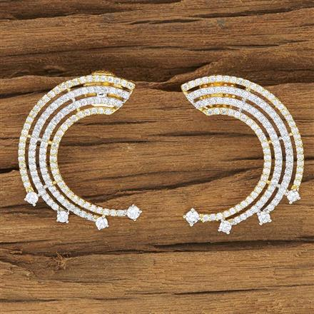 53909 CZ Chand Earring with 2 tone plating