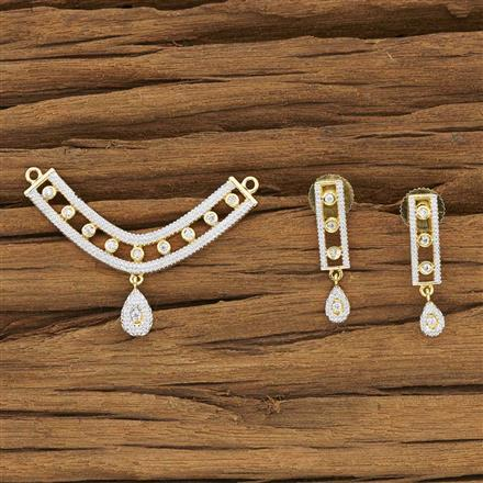 53931 CZ Delicate Mangalsutra with 2 tone plating