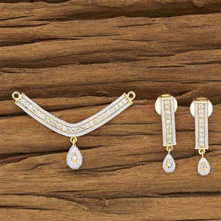 53932 CZ Delicate Mangalsutra with 2 tone plating
