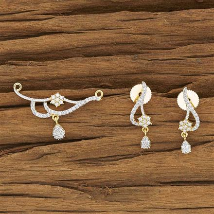 53935 CZ Delicate Mangalsutra with 2 tone plating