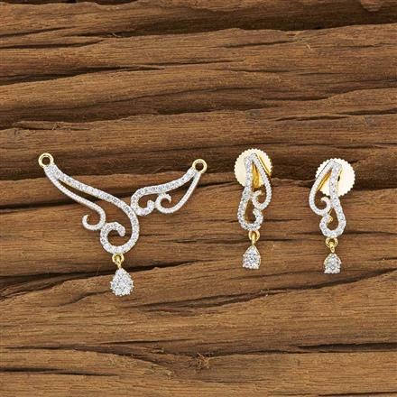 53936 CZ Delicate Mangalsutra with 2 tone plating