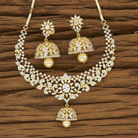 53957 CZ Classic Necklace with 2 tone plating
