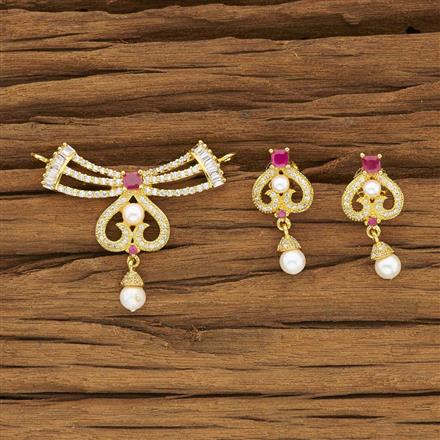53962 CZ Classic Mangalsutra with gold plating