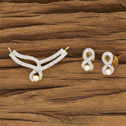 53963 CZ Classic Mangalsutra with 2 tone plating