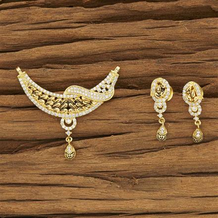 53971 CZ Classic Mangalsutra with gold plating