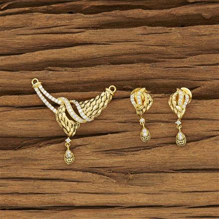 53972 CZ Classic Mangalsutra with gold plating