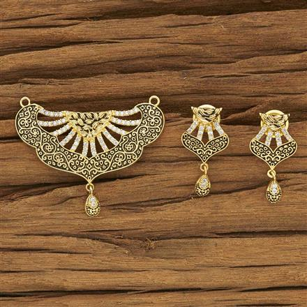 53973 CZ Classic Mangalsutra with gold plating